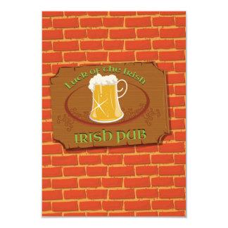 Irish Pub Sign 3.5x5 Paper Invitation Card