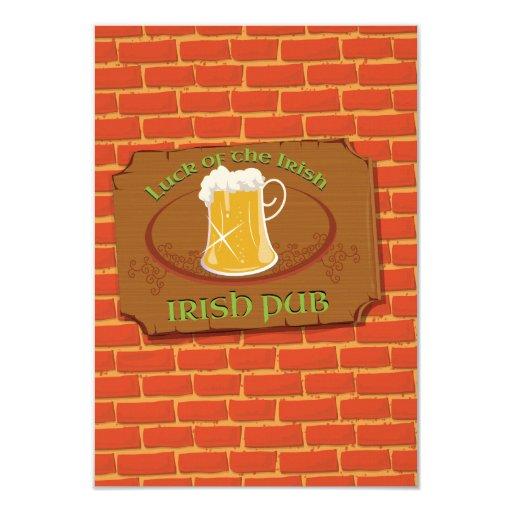 Irish Pub Sign Card