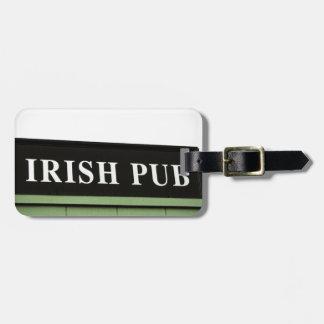 Irish Pub Travel Bag Tags