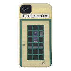 Irish Public Telephone Box Iphone 4/4s Case V2 at Zazzle