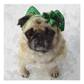 Irish Pug Poster