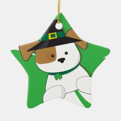 Irish Puppy Ceramic Ornament