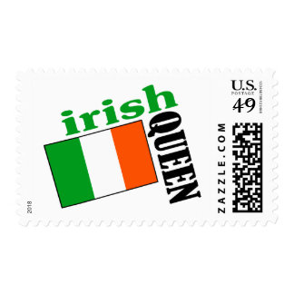 Irish Queen & Flag Postage