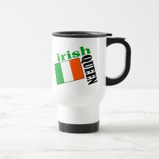 Irish Queen & Flag Travel Mug