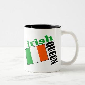 Irish Queen & Flag Two-Tone Coffee Mug