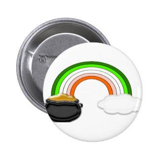 Irish Rainbow Button