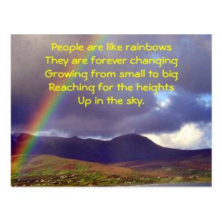 Irish Rainbow Postcard