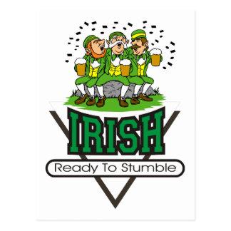 Irish Ready To Stumble Gift Postcard