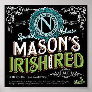 Irish Red Ale Poster