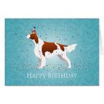 Irish Red and White Birthday Design Card