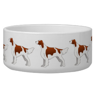 Irish Red and White Setter Basic Illustration Bowl