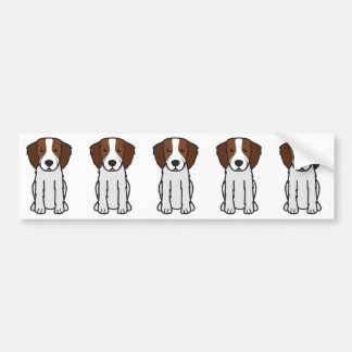 Irish Red and White Setter Dog Cartoon Bumper Sticker