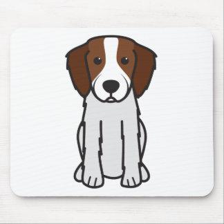 Irish Red and White Setter Dog Cartoon Mouse Pad