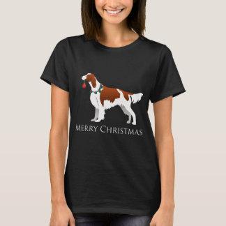 Irish Red and White Setter Merry Christmas T-Shirt