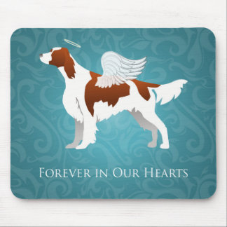 Irish Red and White Setter Pet Memorial Dog Angel Mouse Pad