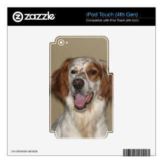 irish red and white setter.png iPod touch 4G decal