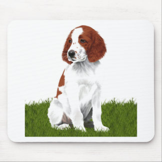 Irish Red and White Setter Puppy Mouse Pad