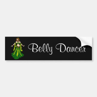 Irish Redhead Belly Dancer Car Bumper Sticker