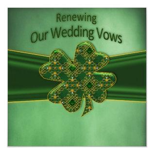 IRISH RENEWING WEDDING VOWS INVITATION at Zazzle