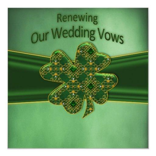 Celtic Wedding Vows: IRISH RENEWING WEDDING VOWS INVITATION