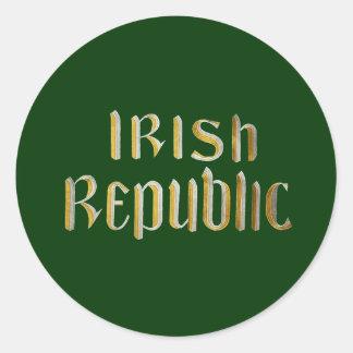 Irish Republic Classic Round Sticker