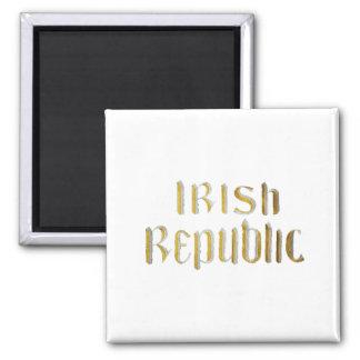 Irish Republic 2 Inch Square Magnet