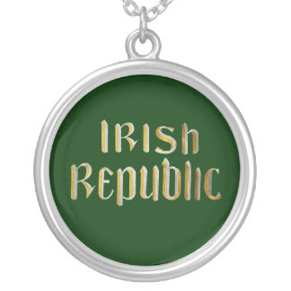Irish Republic - Republic of Ireland Flag Silver Plated Necklace