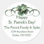 Irish Return Address Labels :: Shamrock Design 10 Classic Round Sticker