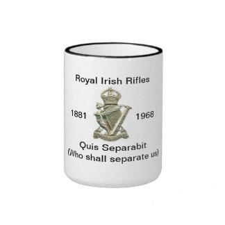 Irish Rifles Mug. Ringer Coffee Mug