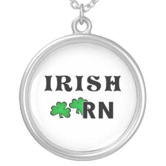 Irish RN Round Pendant Necklace