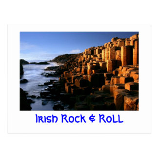 """Irish Rock & Roll"" Postcard"