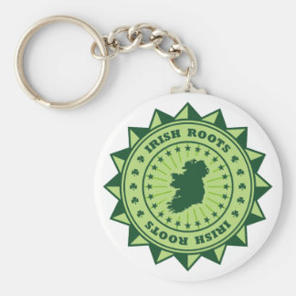 Irish Roots Map Keychain