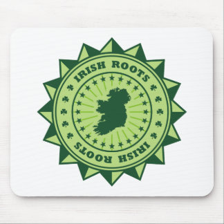 Irish Roots Map Mouse Pad