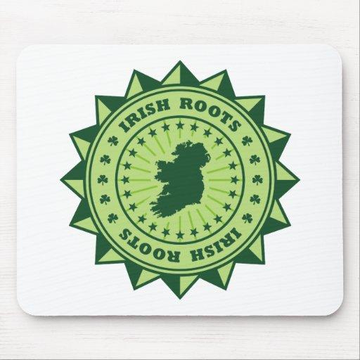 Irish Roots Map Mouse Pad