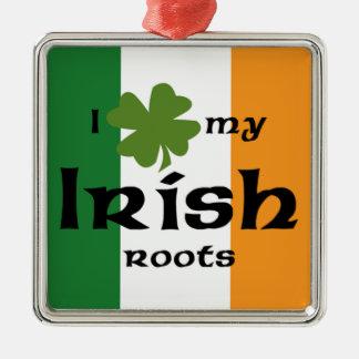 Irish roots metal ornament