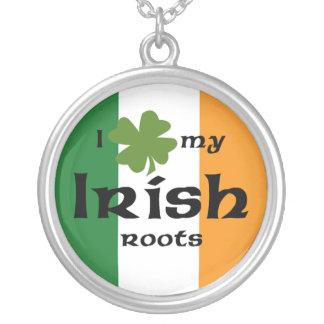 Irish roots round pendant necklace