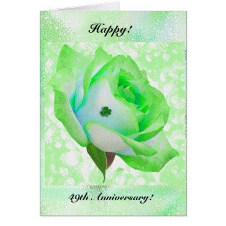 Irish rose and Anniversary! Greeting Card