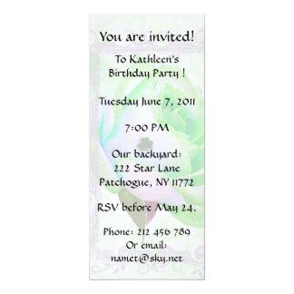 Irish Rose Birthday Party! 4x9.25 Paper Invitation Card