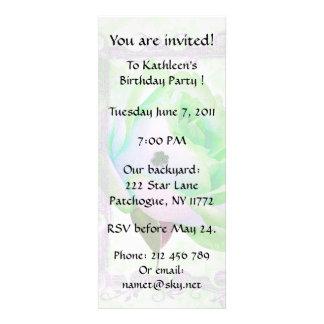 Irish Rose Birthday Party Custom Invites