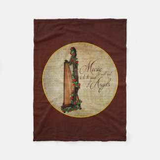 Irish Rose Harp Fleece Blanket