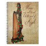 Irish Rose Harp Notebook