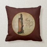 Irish Rose Harp Pillow