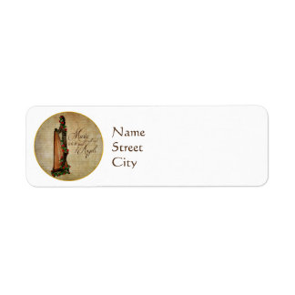 Irish Rose Harp Return Address Labels