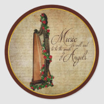 Irish Rose Harp Sticker