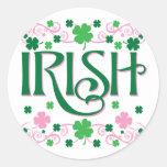 Irish Round Stickers