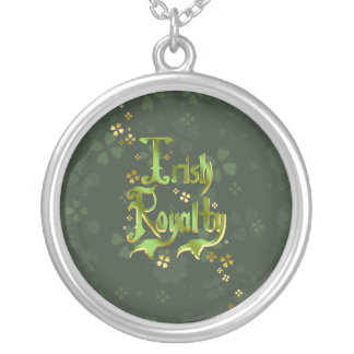 Irish Royalty Round Pendant Necklace