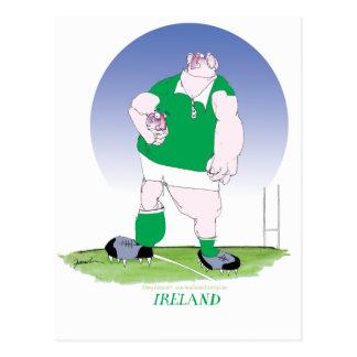 irish rugby player, tony fernandes postcard