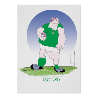irish rugby player, tony fernandes poster