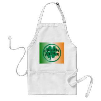 Irish Rule - Ireland Colors and Shamrock Adult Apron