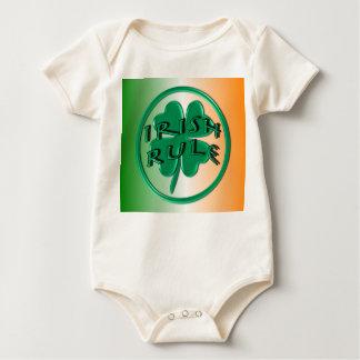 Irish Rule - Ireland Colors and Shamrock Baby Bodysuit